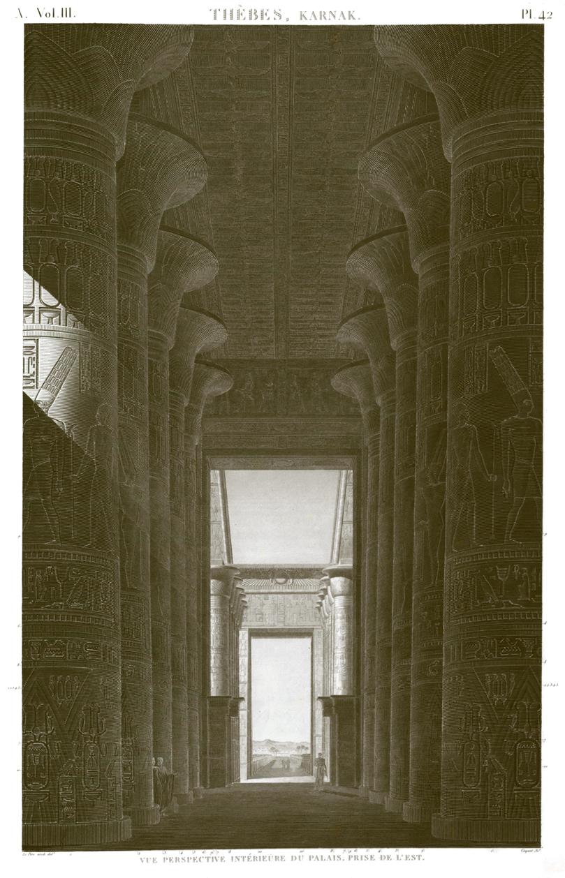 Karnak hypostyle view