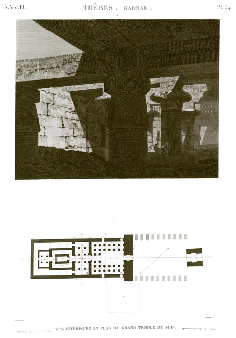 Khonsu Temple Karnak Plan