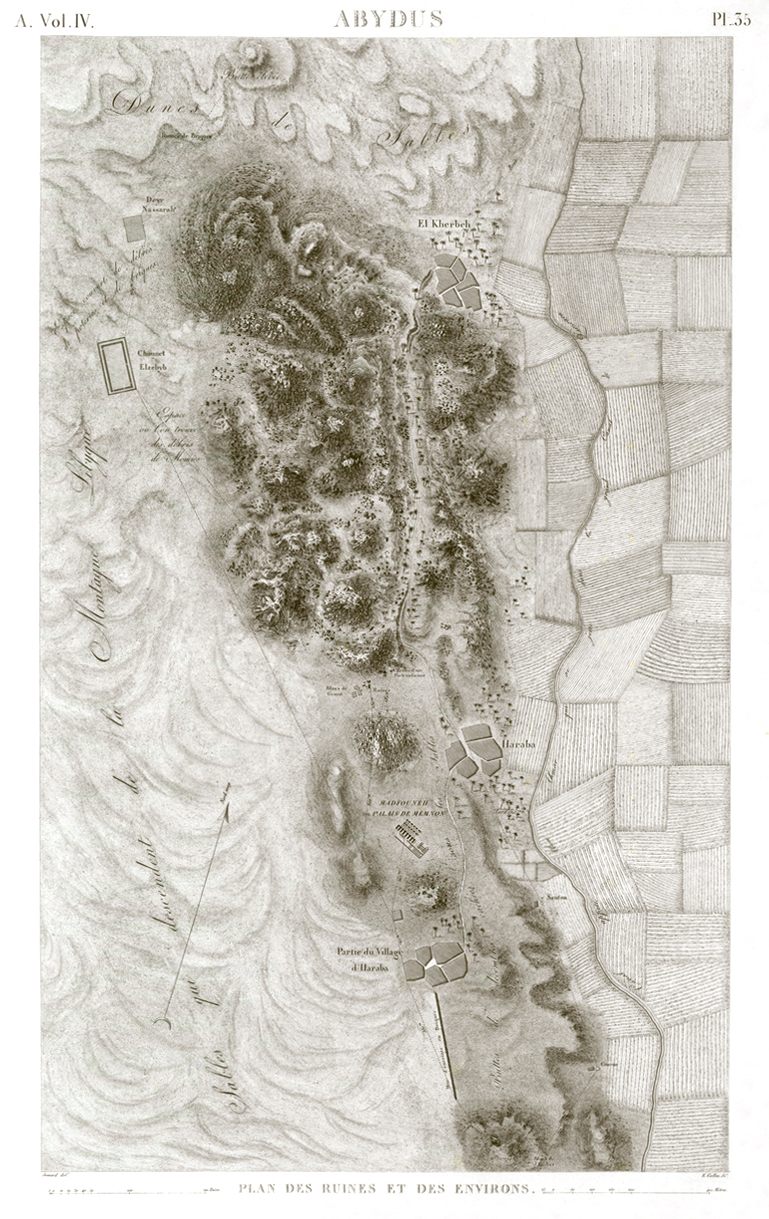 Pl. 35- Map of the ruins and the surrounding area