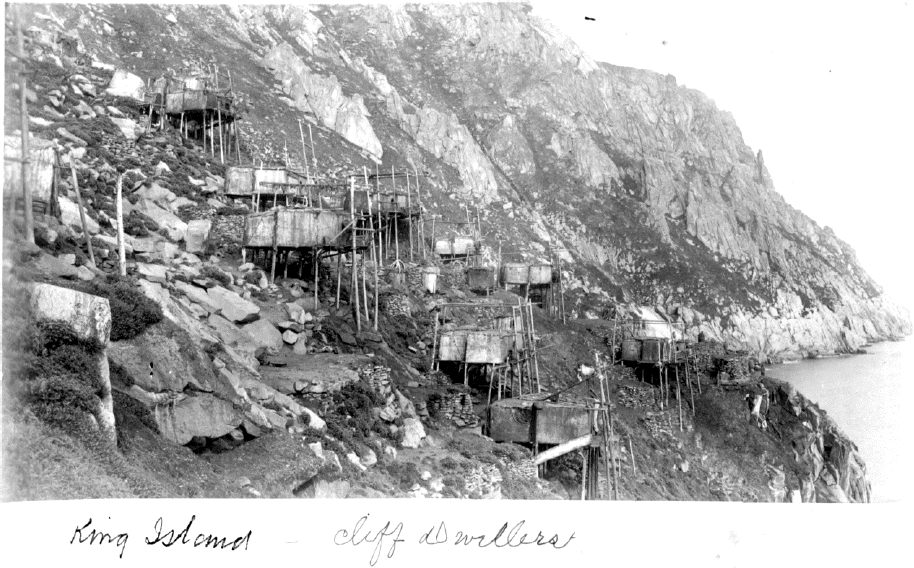 Historical photo of King Island in 1888