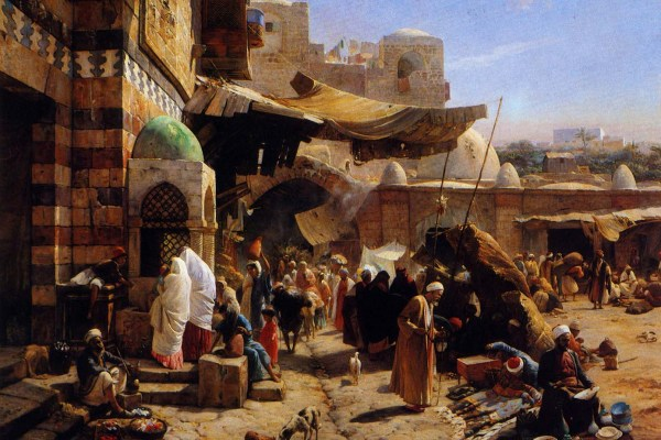 Market at Jaffa - Gustav Bauernfeind, 1877