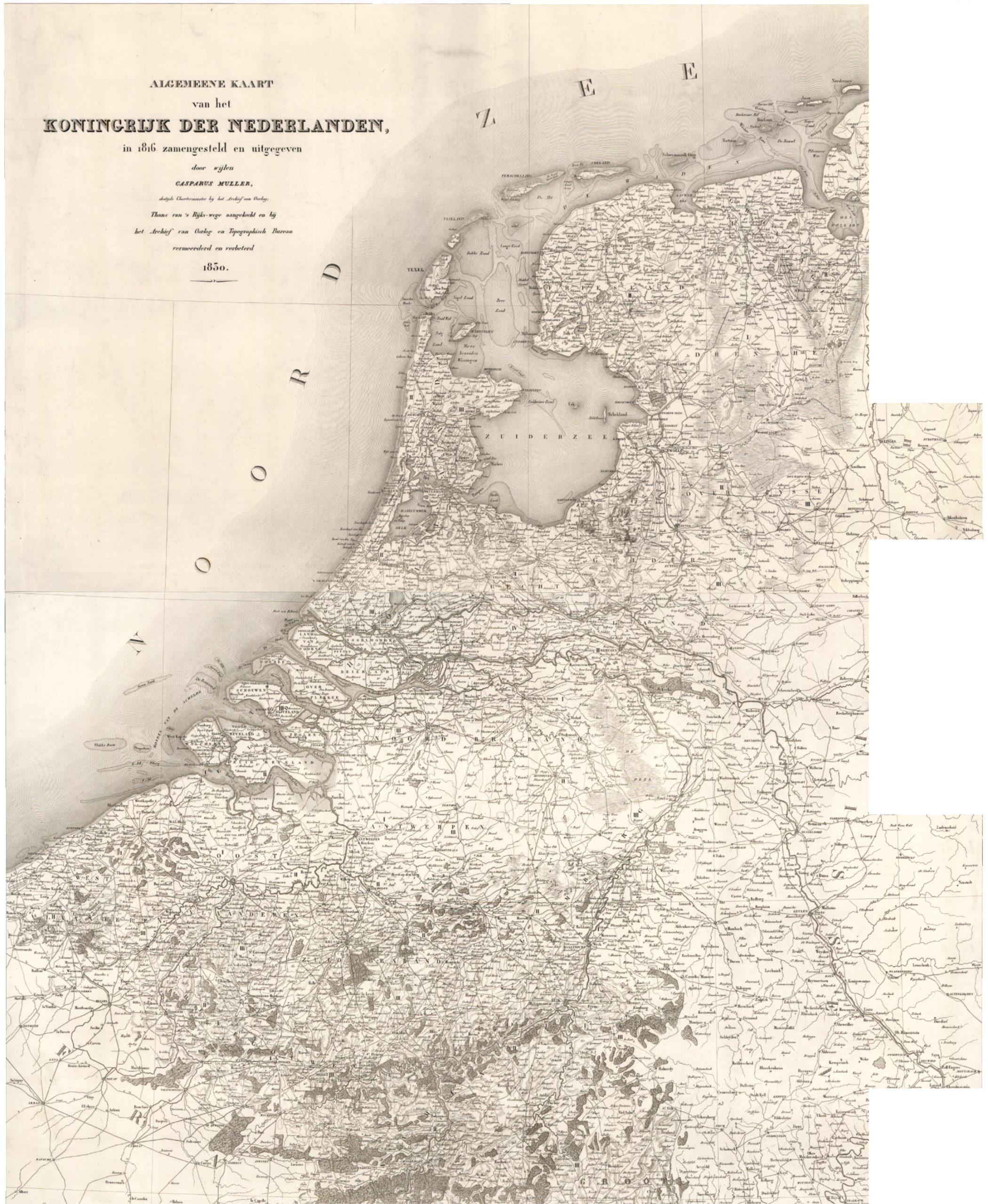 1830 Netherlands Map
