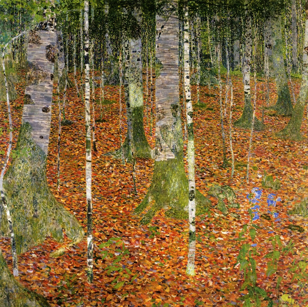 Birch Forest - 1903 Klimt Forest Paintings