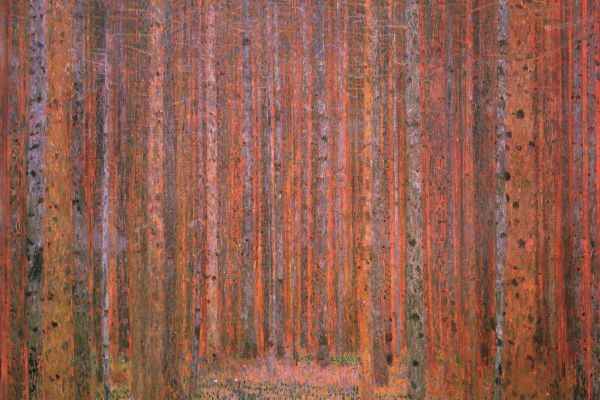 Klimt's Forest Paintings in Litzlberg
