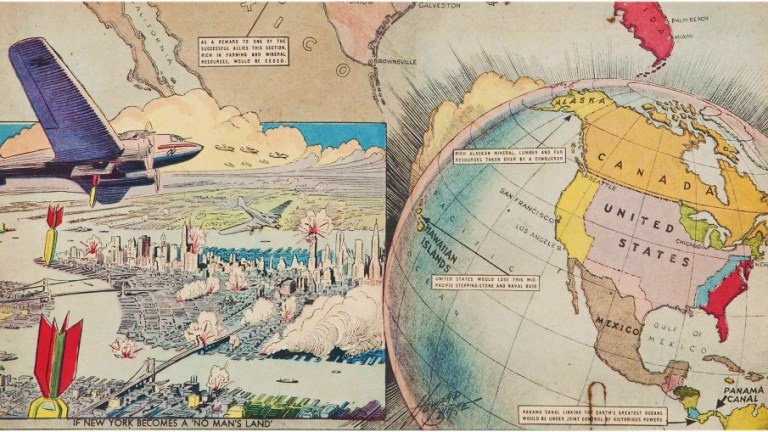 If We Enter a World War and Lose, a 1937 Map