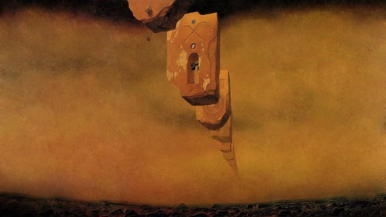 Zdzisław Beksiński's Dystopian Surrealist Landscapes