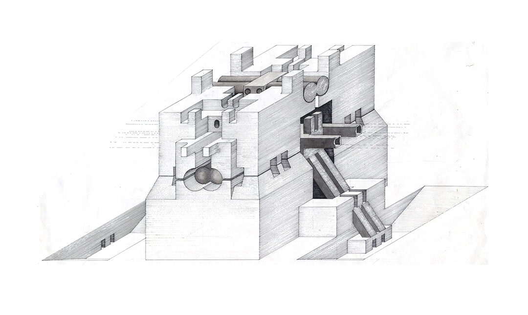 Underground Building, project (Isometric) Walter Pichler