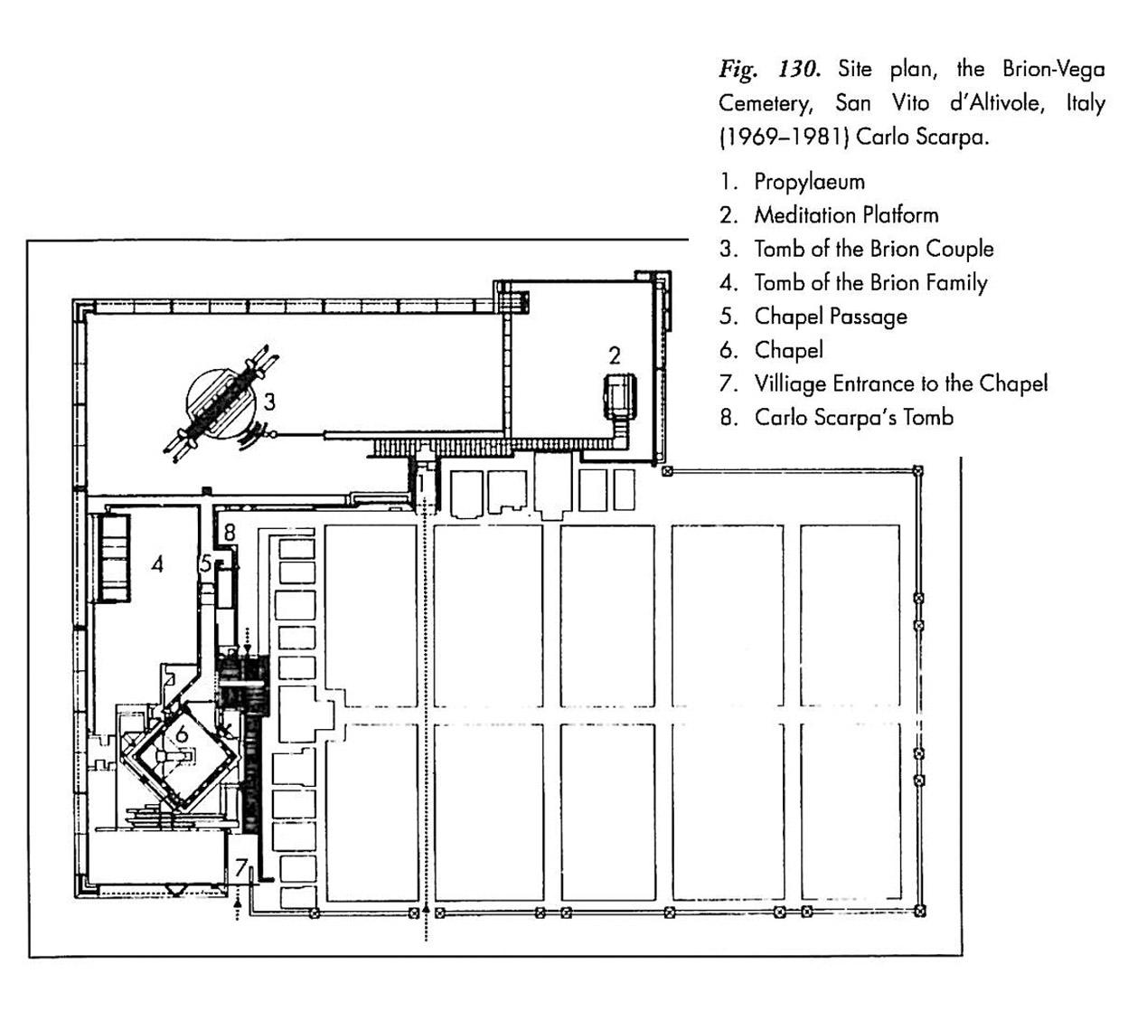 Brion Tomba Cemetery Plan Carlo Scarpa