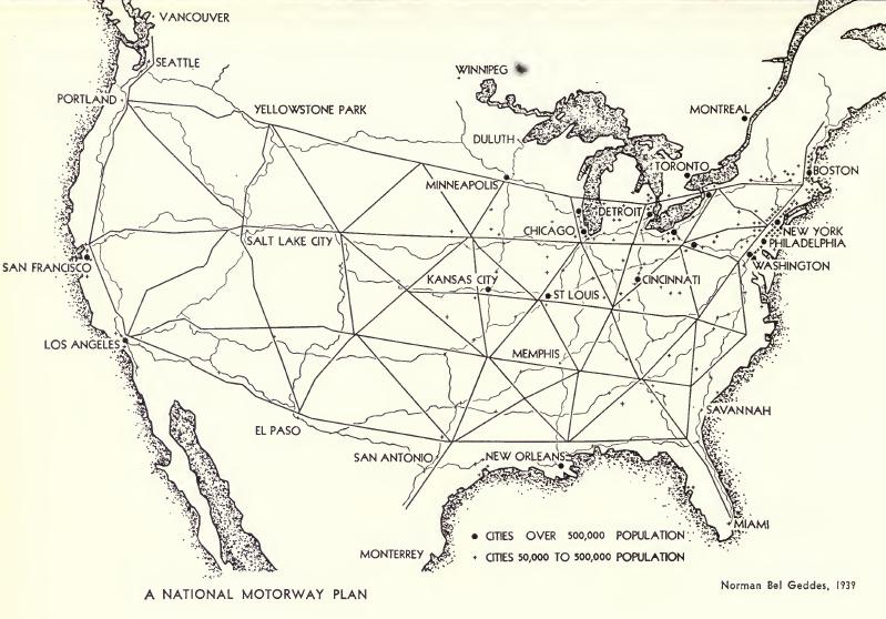 Norman Bel Geddes Motorway Plan