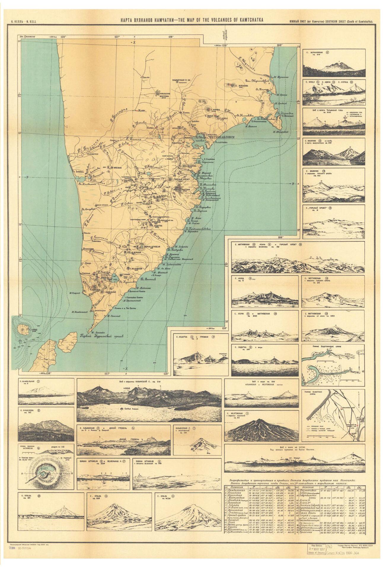 kamtchatka volcanoes map
