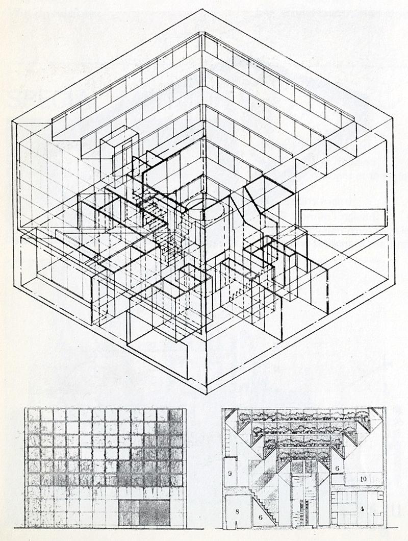 Norimasa Azumada and Yuriko Azumada. Japan Architect 53 Feb 1978, 46