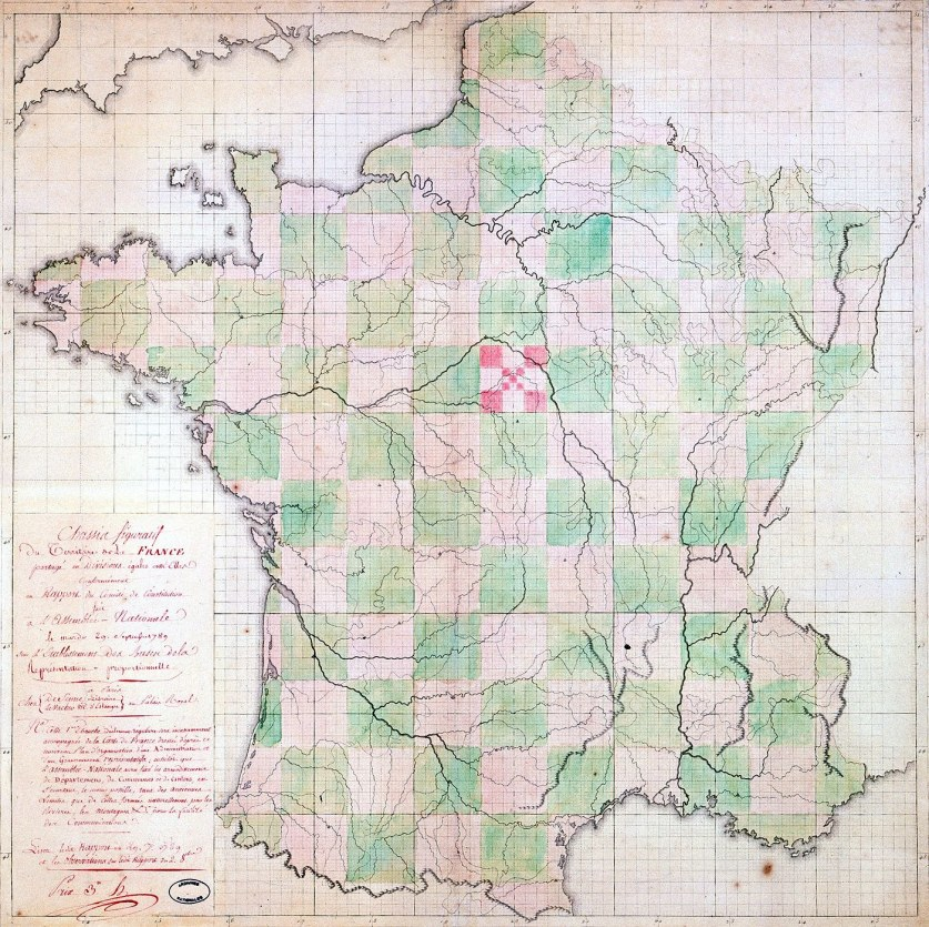 France Departments Grid Map