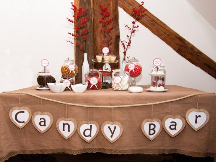 Die Sensevent Candy Bar in winterlichem Rot, Braun und Weiß
