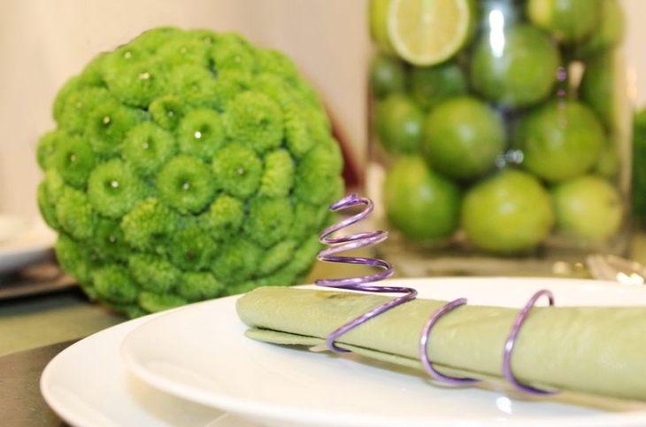Grün und Lila lässt sich ganz wunderbar kombinieren.