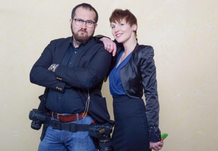 Hochzeitsfotograf Volkan Basel und ich mussten die Fotobox vorher natürlich testen.