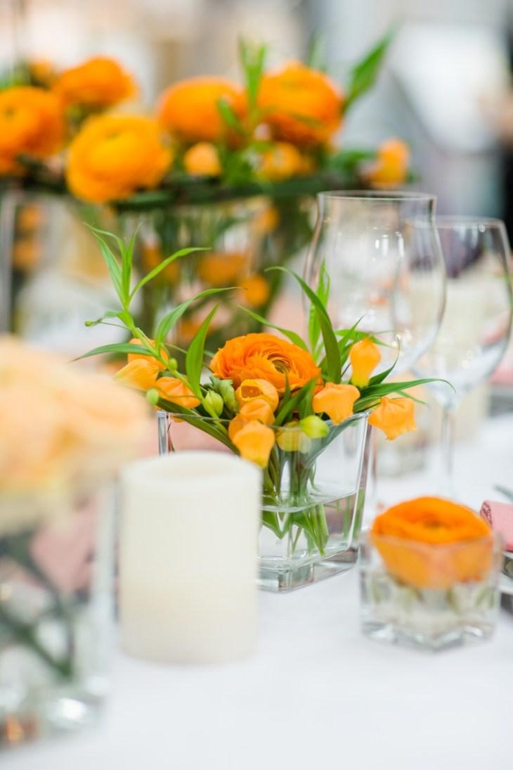 Dekoration orange Hochzeit Göttingen