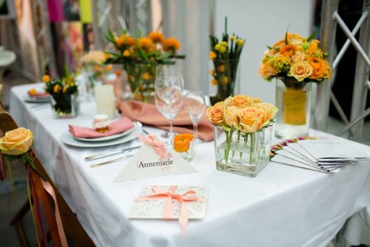 Hochzeitsdeko orange Pfirsich Göttingen