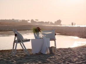 Arrangement Dekoration Heiratsantrag Wedding Proposal Hochzeitsantrag Antrag Kreta Strand Beach Crete