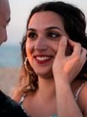 Glückliche Braut Heiratsantrag Hochzeit Wedding bride Beach Strand Kreta Crete Hochzeitsplanung Wedding Planning