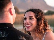 Glückliche Verlobung Heiratsantrag Kreta Planung Vorbereitung Service