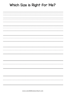 blank handwriting page different sized lines