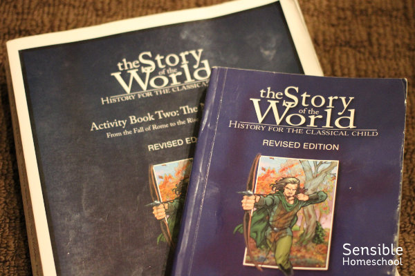 Story of the World and SotW Activity Book blue book covers