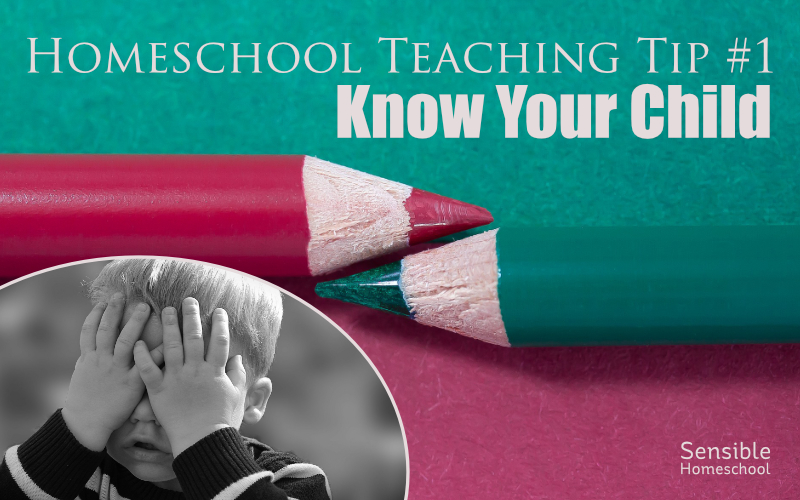 Homeschool Teaching Tip #1: Know Your Child