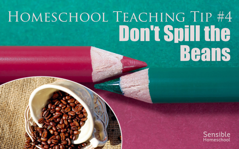 Homeschool Teaching Tip #4: Don't Spill the Beans title