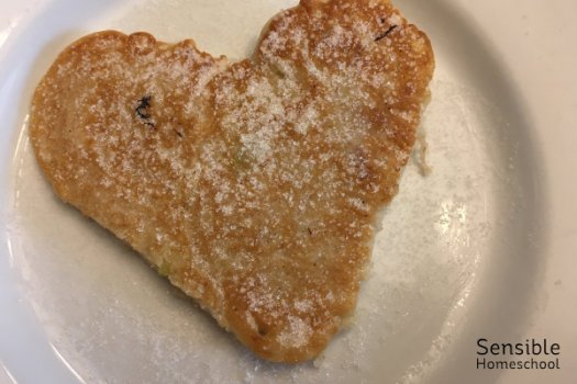 heart shaped fritter snack