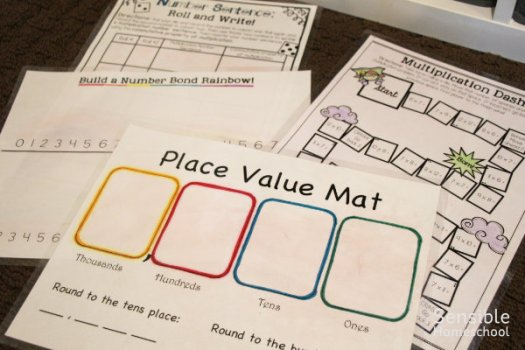 homeschool math printable pages