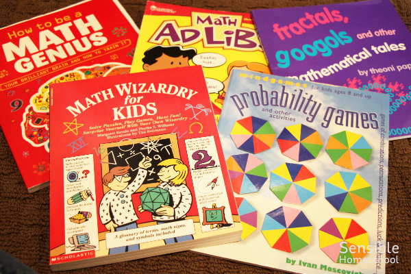 Math books and workbooks for homeschool students