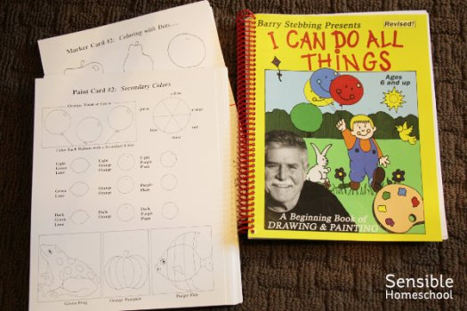 I Can Do All Things beginning drawing and painting curriculum book and papers for homeschool kids