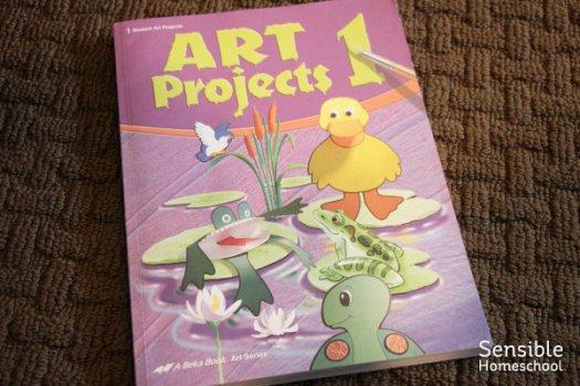 Abeka Art Projects 1 homeschool book