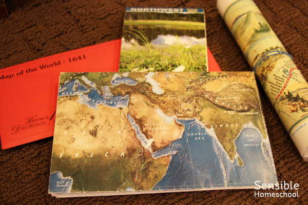 Homeschool geography maps