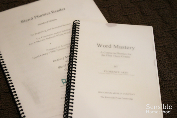 Word Mastery & Blend Phonics Reader spiral bound curriculum books