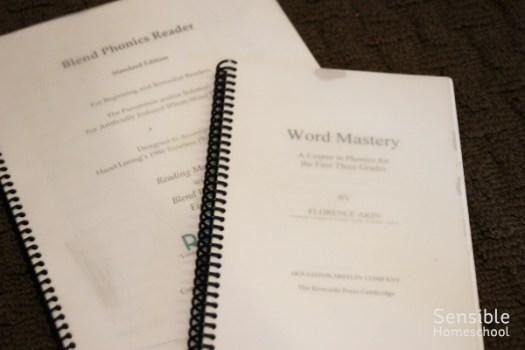 Word Mastery & Blend Phonics Reader spiral bound curriculum books