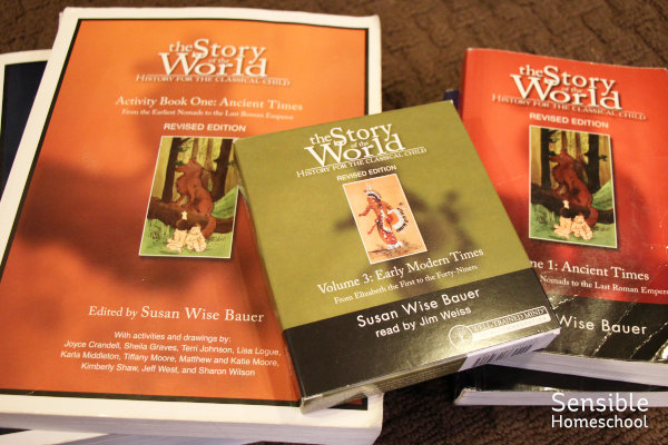 Story of the World curriculum books and audiobook for homeschool kids
