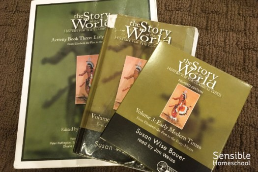 Story of the World Volume 3 homeschool history curriculum book, activity book, audiobook