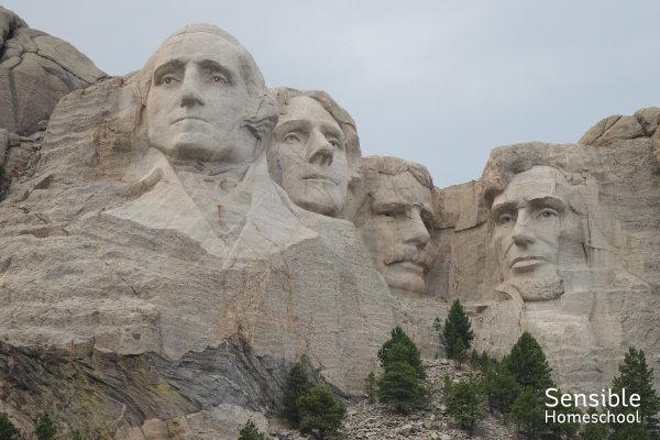 Mount Rushmore family vacation photo