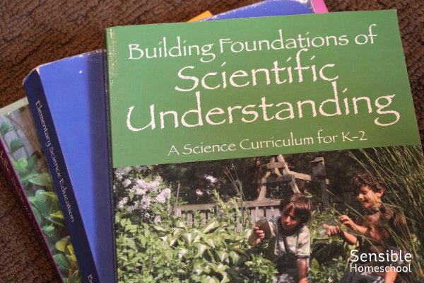 Stack of BFSU science curriculum books Vol. 1-3
