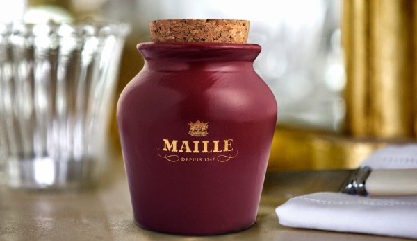Maille Black Truffle and Chablis Mustard on Tap_Limited Edition Puce Jar_Ambiance Shot