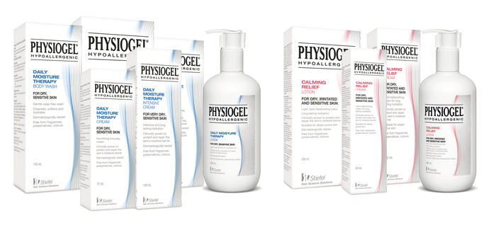 Physiogel pack group shot