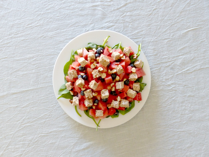 recette vegan salade pasteque