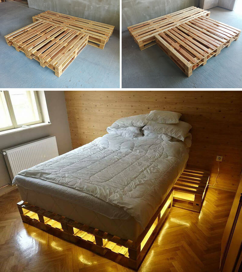 5 Pallet Beds Ideas Easily Made At Home - Sensod on Pallet Design  id=16350