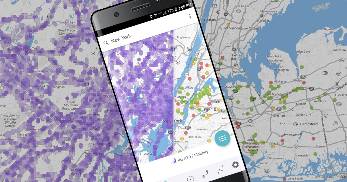 Coverage Maps and Speedtests   Sensorly