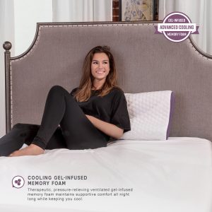 memory foam pillow with coconut infused