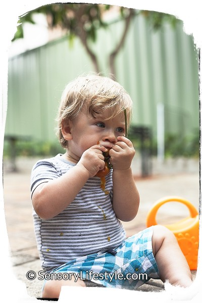Josh eating