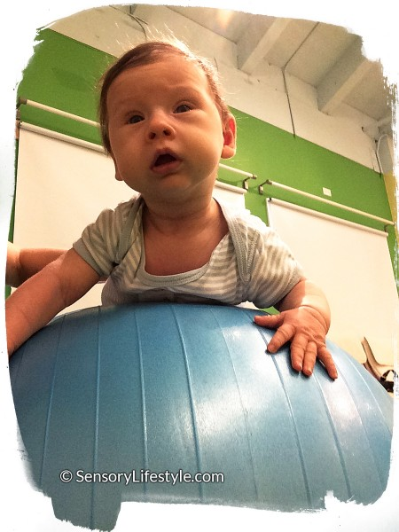 Josh on a ball