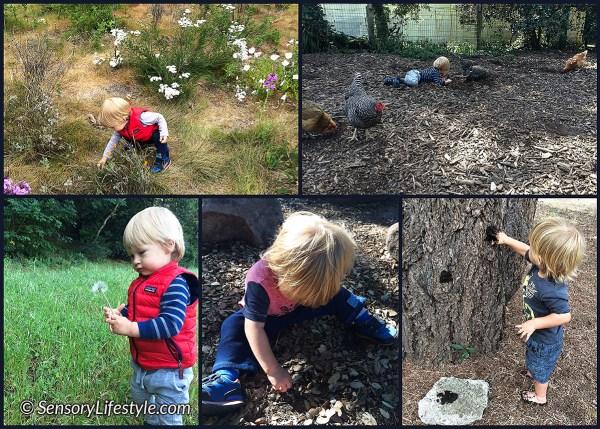 Exploring outdoors