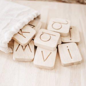 Wooden Alphabet Tiles CVC